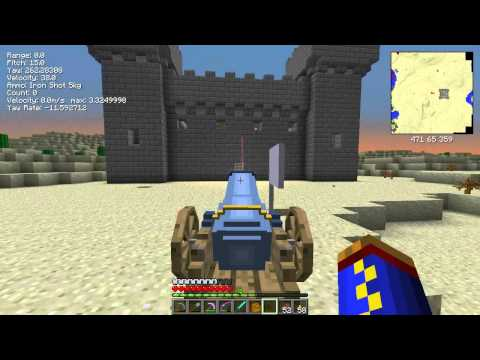 Minecraft 1.6.4 Ancient Warfare Mod Episode 22 Castle Siege finally