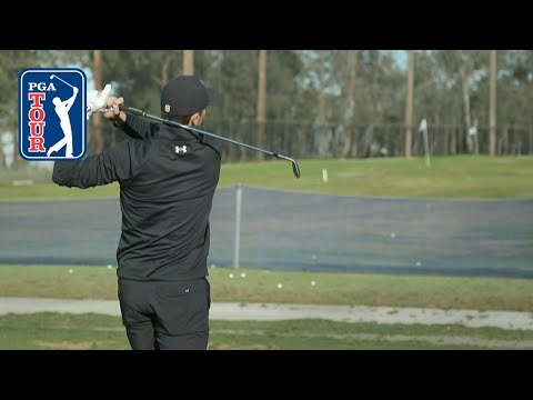 Jordan Spieth's range session at Farmers Insurance Open 2020