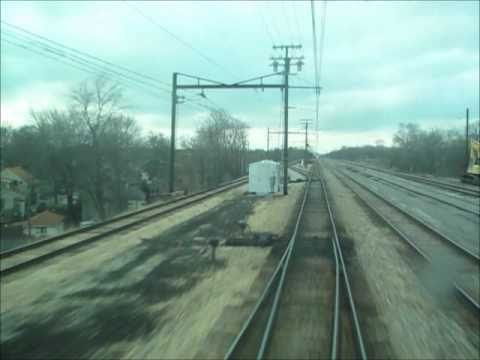 Riding a new Metra Electric Highliner, with a view out the front vestibule window, from University Park to Matteson, Illinois, with a station stop in between...