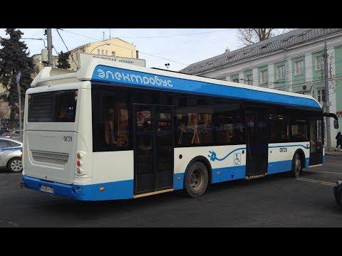 Поездка на электробусе по маршруту М2