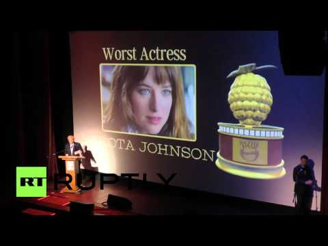 USA: Fifty Shades of Grey awarded 'worst picture' at the Razzies