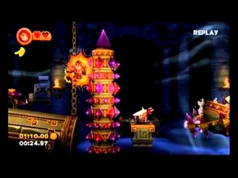 Donkey Kong Country Returns - 4-K Jagged Jewels - 34.24 (Shiny Gold Medal)