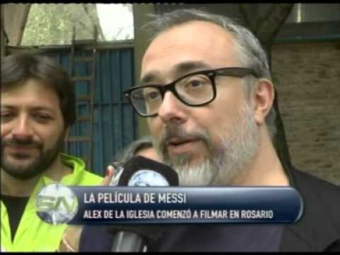 La película de Messi  Alex de la Iglesia comenzó a filmar en Rosario