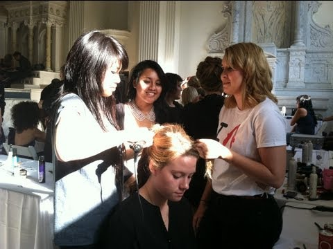 Toni and Guy Academy Students Style Hair for LA Fashion Week