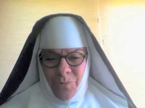 Funny nun talks to ellen