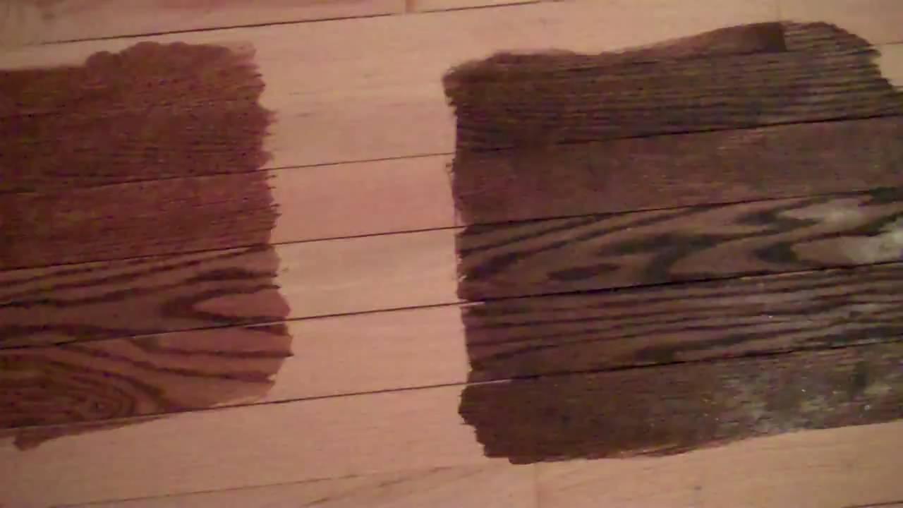 Stained Hardwood Floors Youtube