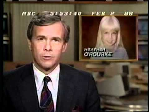 Tom Brocaw announces young Heather O'Rourke died at the age of 12