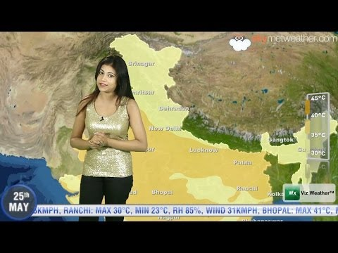 25/05/14 - Skymet Weather Report for India