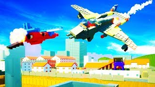 GUIDED NUCLEAR MISSILE DESTROYS PLANE IN BRICKSVILLE - Brick Rigs Multiplayer Gameplay w/Neilogical