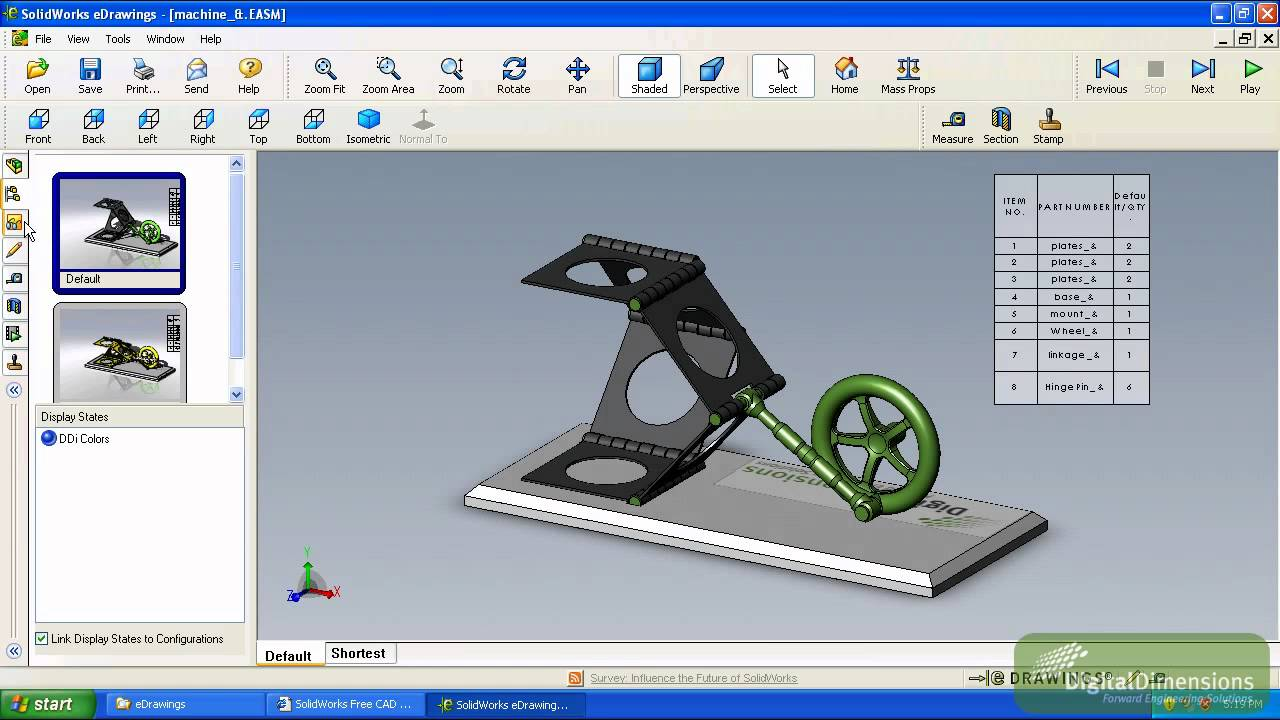 Solidworks edrawings viewer tips youtube for Online cad editor