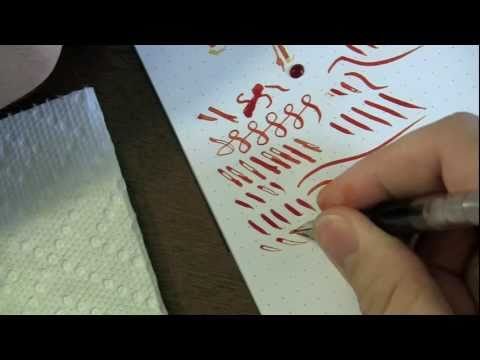 Noodler's Flex Nib Adjusting- Ink Nouveau