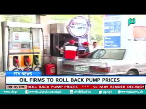 [PTVNews] Oil firms to roll back pump prices