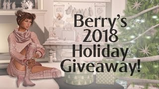 Berry's 2018 Holiday Giveaway - L$5000 LAQ Gift Cards in Second Life