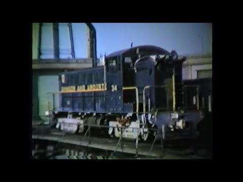 Incredible Bangor & Aroostook footage! Cab rides, run-by's, Northern Maine Junction, Searsport, etc....Rare GE 600hp 'Model Y' switcher (ex-New Haven) rides ...