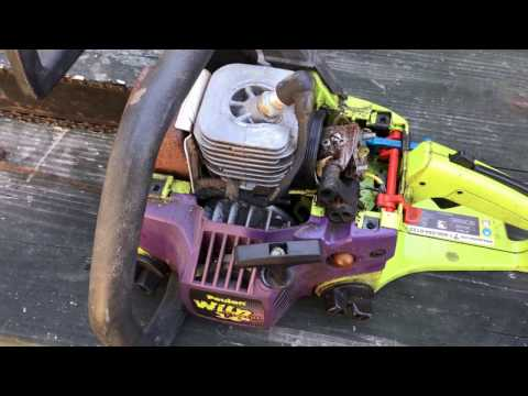 Poulan Wild Thing Chainsaw 2375 gas line routing part 1