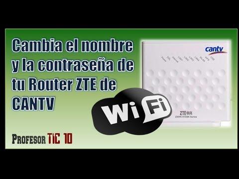 Fácil. Cómo cambiar el nombre  y la Contraseña del Modem Wifi ZTE ZXHN H108N de CANTV o Claro