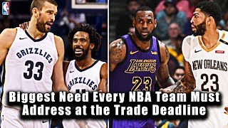 Biggest Need Every NBA Team Must Address at the Trade Deadline
