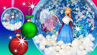 FROZEN ANNA SNOWBALL ORNAMENT Make Your Own Christmas Decoration Sequins Pearls How to