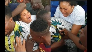 Wife Of Mad Melon of 'Danfo Driver' Weep Uncontrollably as Drama breakdown When They Open Casket