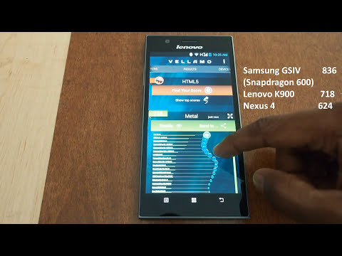 Lenovo K900 Hands On - Performance Benchmarks