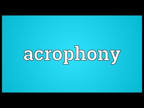 Header of acrophony