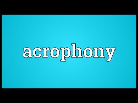 Header of acrophony