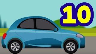 10 Küçük Araba - Yeni Çocuk Şarkısı 2017 - Sayı Saymayı Öğreniyoruz