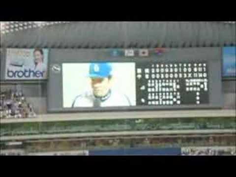 2004年日本シリーズ第2戦勝利監督インタビュー 落合博満監督