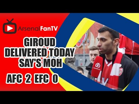 Giroud Delivered Today say's Moh -Arsenal 2  Everton 0
