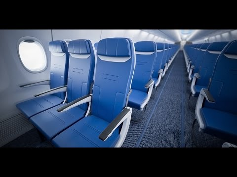 Southwest Airlines Heart Cabin Interior - in Virtual Reality VR 360