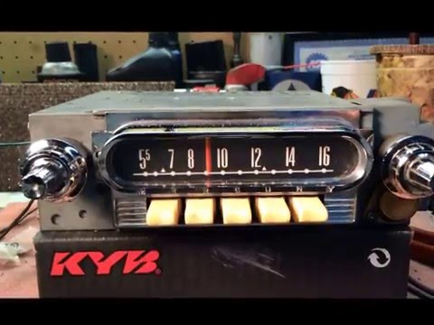 Vintage 1962 Mercury FoMoCo Ford Original Radio am/fm 12 Volt