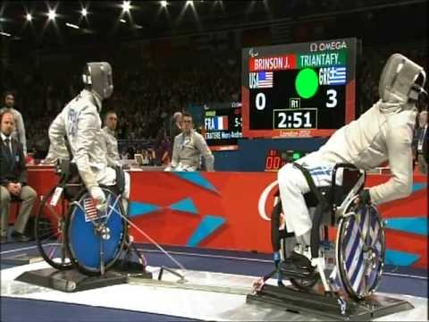 Wheelchair fencing highlights - London 2012 Paralympic Games