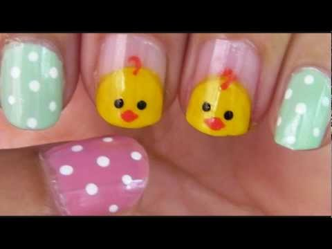 Easy Easter Nail Art.