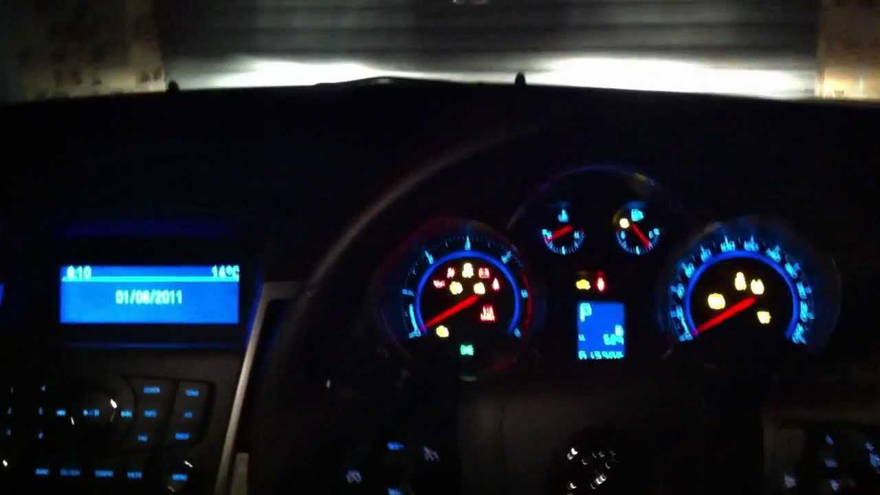 Diesel Chevy Cruze Holden Cruze dashboard illumination - YouTube