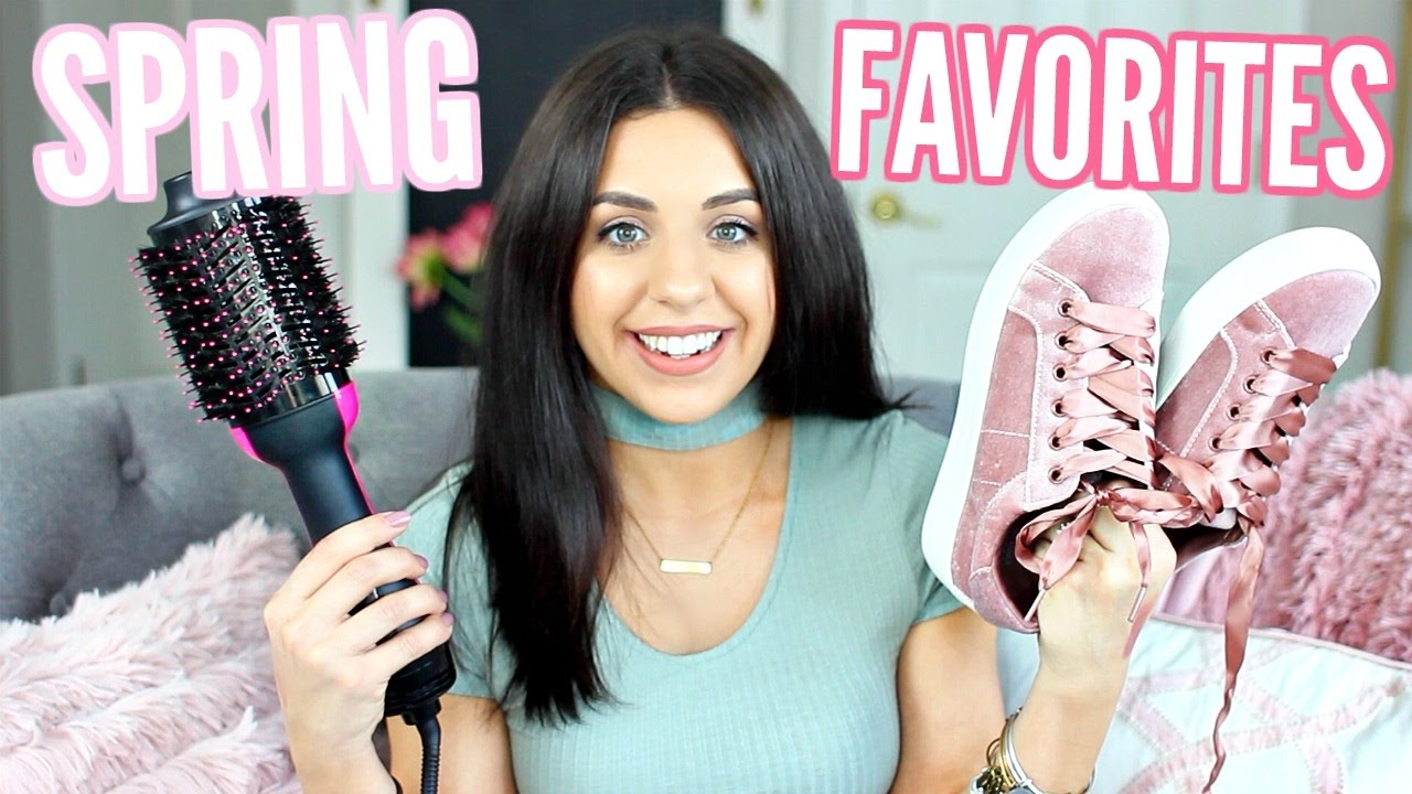 MY CURRENT FAVORITE THINGS FOR SPRING 2017! FASHION, BEAUTY, FOOD!
