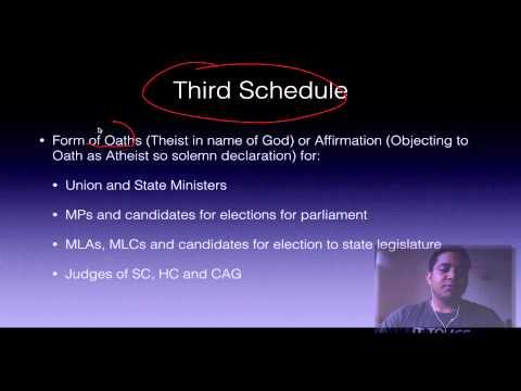 Polity 1.3 Schedules Part I Ias Preparation video