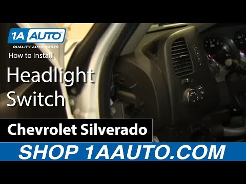 How To Install Replace Headlight Switch 2007-15 Silverado Sierra Tahoe Yukon Suburban