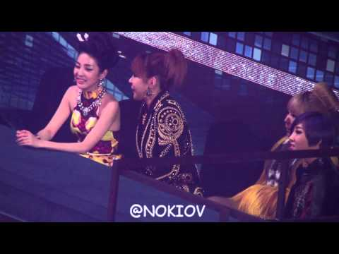 2012.12.29 2NE1 at the sitting area at SBS Gayo Daejun 4