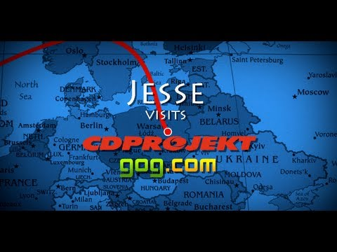Jesse Goes to CDProjekt- GoG.com ROCKS! (and 300,000 subs contest)