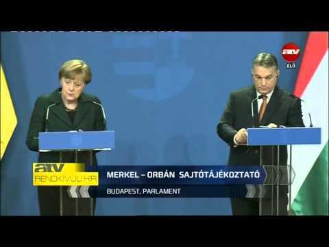 Angela Merkel Budapesten - az ATV ÉLŐ közvetítése