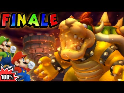 New Super Mario Bros. U 100% Multiplayer Walkthrough - Part 24 - FINALE