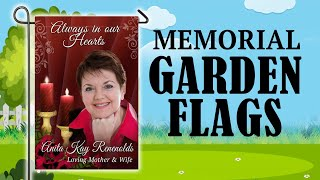 Memorial Garden Flags - Cemetery Garden Flag