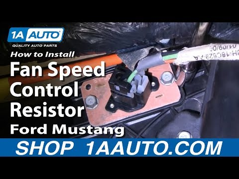 How To Install Replace Fan Speed Control Resistor Ford Mustang 94-04 1AAuto.com