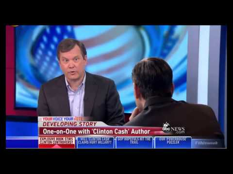Peter Schweizer Appears on ABC's This Week with George Stephanopoulos to Discuss CLINTON CASH