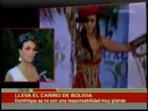 Dominique Peltier, rumbo a Miss Universo, con el cariño de los bolivianos. | Bolivia-red.Com |