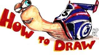 How to Draw Turbo, Turbo the Snail
