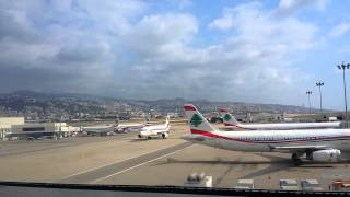 Middle East Airlines A320 taxi to gate