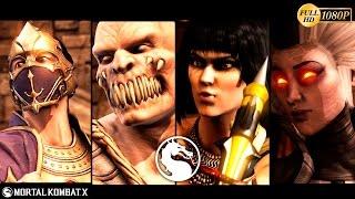 Mortal Kombat X Gameplay Baraka, Rain, Tanya, Sindel NPC's Mod 1080p 60FPS