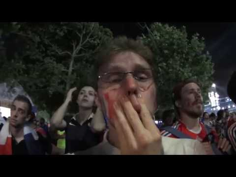 Portugal - France Euro 2016 / la dézillusion finale a la fanzone de Paris