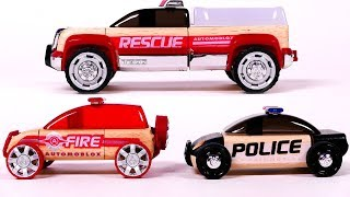 Police Vehicle Emergency Rescue Truck and Fire Chief Truck Toys for Children